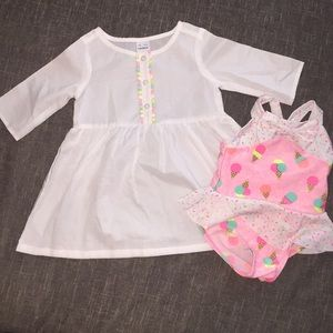 Bathing Suit and Cover up 12 month baby girl